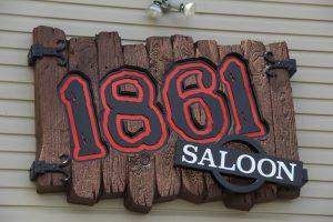 1861 Saloon Wood Sign