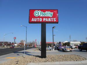 Auto Parts Pole Sign