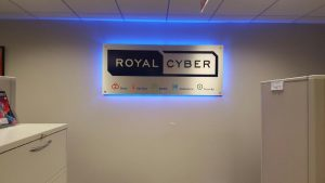 Royal Cyber - Indoor Lobby Sign - Backlit