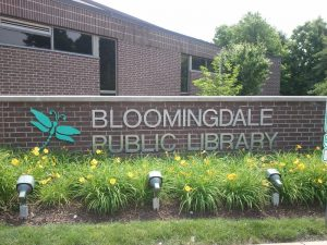 Bloomingdale Library Monument Sign