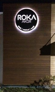 Roka Backlit Storefront Sign