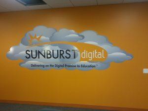 Sunburst Vinyl Wall Graphics Lobby Sign