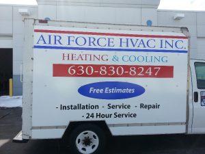 Air Force HVAC Vehicle Wrap Work Truck Wrap