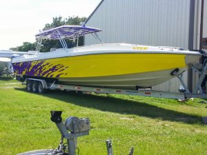 Custom Boat Wrap